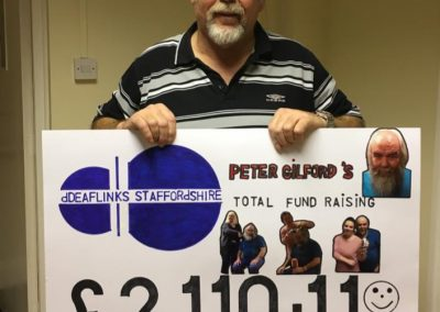 Peter with Cheque