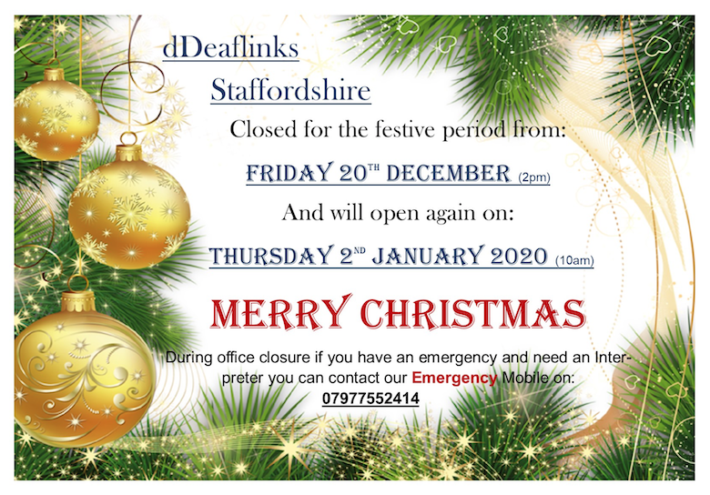 Christmas 2019 Closing Dates